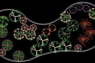 花坛   某宾馆内庭院景观设计   某广场店铺结构布置平面图